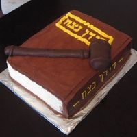Book_Cake.jpg The cake was a commeration cake for a postive ruling in court over a dispute over stolen books. The gravel is a sugar cookie covered in...