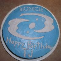 Bionicle Logo Lego Bionicle logo. Buttercream on cake, all decorations in royal icing (I didn't know about FBCT)
