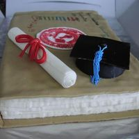 Grad Cake Side View