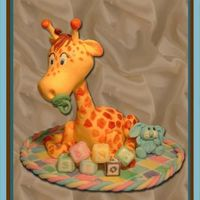 Giraffe Baby Played around a bit with gumpaste. Out came this Giraffe baby .Everything's 100% eatable.