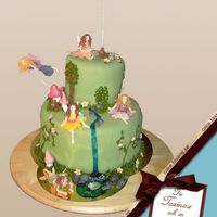 "Fairies I made this cake for my daughters 6 years birthday party. She loved it and said ""it's ewerything I wished for, though I didn&#039..."