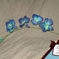 Blue 'n Green Orchid A friend asked me to make a stem of orchids for a cake she was making for her fathers 50 years birthday. She had seen a picture online of...
