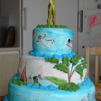 Peter Pan Cake (Angle 6/6) My son loves Peter Pan, so this is the cake I made for his third birthday. He loved it! Wish though that I'd had a bit more time with...