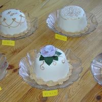 Mini Cakes Mini cakes to help a groom and bride to be choose what cake they want for there wedding.