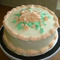"Spring Roses 8"" chocolate choc chip with cream cheese filling and bc icing and roses. no particular occasion for this one. thanks for looking!"