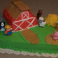 100_0351.jpg Farm Cake was for a dear friends retirement. I had trouble with the barn, was my first carved cake. I think I should have made it smaller....