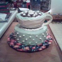 Cup Of Cocoa This is my 1st tiered cake and the 3rd decorated one.