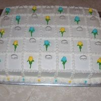 Bridal Shower Cake Squares
