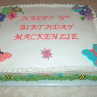 Mackenzies Cake fondant flowers and butterflies