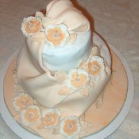 Practice Cake Practice cake with gumpaste drape and flowers