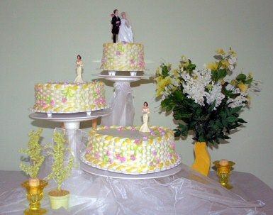 Heart Basket Weave Cake Garden theme heart basket weave wedding cake
