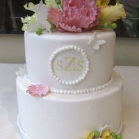 Sugar Flower Bridal Shower Cake