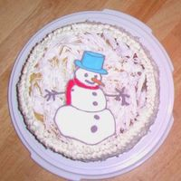 Pineapple Coconut Cake W/ Royal Icing Snowman
