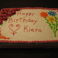 Kiera's Birthday Photo of a cake I did for a 1-year old birthday