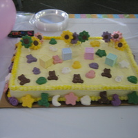 Baby Shower Cake With Candy Decorations