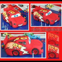 Lightning Mcqueen For Eduardo 2nd McQueen that I did - way better than my 1st (poor child ;-). Also, it was one of THREE cakes I had to do on this day (... phew ...).