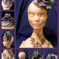 Sugarart 'marble' Bust With Gumpaste Fascinator