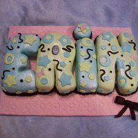 My Dd 24Th Birthday Hand cut the letters, chocolate cake, MMF. Inspiration from cakelady77 (thank you Tammi!) TFL