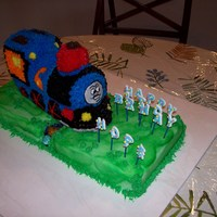 Thomas The Train   Another Free Cake for Kids - vanilla cake.