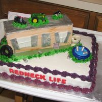 Redneck Life decorated with buttercream and fondant.