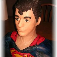 Superman I made this for my son's birthday. Thank you to all the people on here who posted the spiderman bust cakes and the instructions. I...