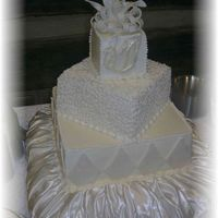 Wedding Cake With Fondant Bow