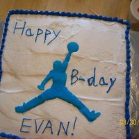 Jumpman Cake   for my nephews bday. jumpman is colorflow