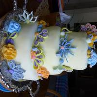Quill Baby Shower Gave this to my neighbor as a surprise for her shower..prettycake51