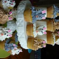 "Terrier Puppies - Cupcakes I bought the book ""Hello Cupcake"" and came home and made them.. Took me all afternoon... Prettycake51"