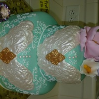 Tiffany Blue Surprise Birthday Cake for a co-worker... I am giving to her for her birthday