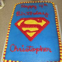 Superman Cake All buttercream, made for a friend.