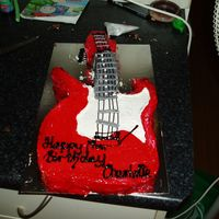 Electric Guitar Cut out Electric Guitar, covered in gel to get the ultra shiny look