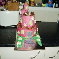 3D Castle Castle 3d, was supposed to be scary with spider webs and stuff but the little girl changed her mind last minute so she ended up with this...