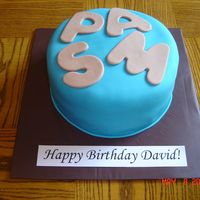 David's Birthday This was the final cake of three in one day. I was exhausted. Thankfully my step-father wont mind that his cake has his nickname on it...