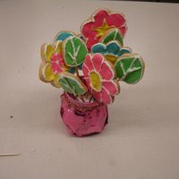 Flower Pot first time making and decorating cookies.