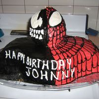 Img_4436.jpg My 4 year old son saw a version of this cake on cc and wanted it for his b-day party. He is obsessed with all things Spiderman. The head is...