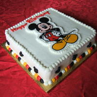 Mickey Mouse Marble chocolate and vanilla cake, with vanilla filling. Covered in BC. Mickey Mouse I made using the frozen BC transfer method. Thanks for...