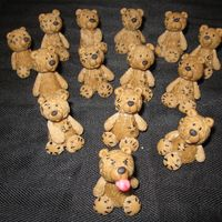 Teddy Bear Toppers   Made out of Modeling Chocolate