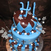 Topsy Turvy   Cake covered with MMF