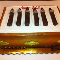 Cigar Anyone Buttercream iced cake with fondant cigars and accents