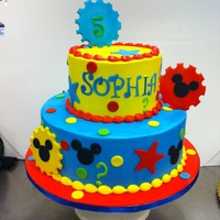 Mickey Mouse Clubhouse all buttercream iced with fondant and gumpast accents
