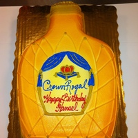 Crown Royal Bottle All buttercream iced