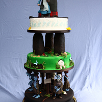 Terry Pratchett Fans This wedding cake os based on one of Terry Pratchett's novels, The Wee Free Men. The bridal couple are big fans of his works. The main...