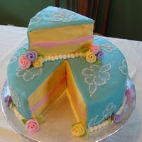 Slice Cake MMF covered with buttercream brushed embroidery. Loved the way this came out, and lots of fun to make