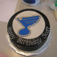 Blues Hockey Puck