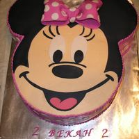 Minnie Mouse  Made this for my daughter's 2nd birthday. Thanks to the great tutorial on this site!! One ear is choc, the other is gluten-free carrot...