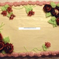Pink & Burgundy Rose Cake This was my first cake where I made all the roses. It was like something finally clicked for me. That reverse shell did give me trouble for...