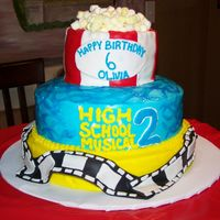 High School Musical 2 Made for my daughter's 6th birthday, which was celebrated on the night High School Musical 2 premiered. Popcorn is Marshmallow's...