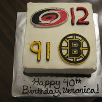 Canes/bruins Birthday Cake