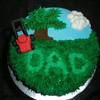 Father's Day I made this cake to bring to my dad's on Father's Day. I got the idea from several cakes on this site.